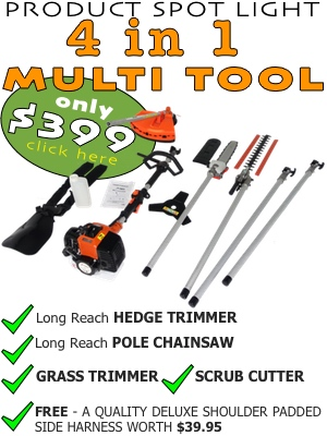 multi tool, 4 in 1 multi tool, multitool, 4 in 1 multitool, scrub cutter, brush cutter, hedge trimmer, hedge trimmer nz, gorse cutter, pole chainsaw, pole chain saw, pole chainsaw nz, grass cutter, weed whacker, multi tool spare parts nz,